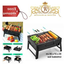 Portable BBQ Charcoal Grill Smoker For Outdoor Cooking Campi