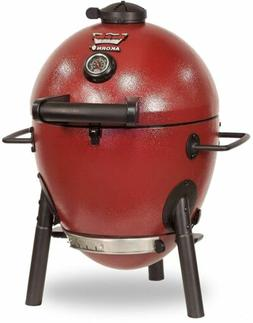 Portable Red Kamado Style Cooker Charcoal Grill With Ash Pan