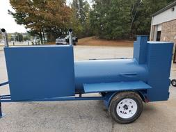 Powder Coated Pick Colors BBQ Smoker Grill Trailer Catering