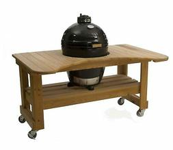 Primo Round LG 280 Ceramic Smoker Grill On Cypress Table