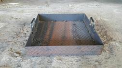 Pro Metal Charcoal Ash Pan BBQ Smoker Grill Fire Box Competi