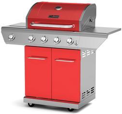 Nexgrill Propane Gas BBQ Grill 4-Burner with Side Burner 60,