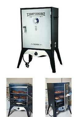 "Propane Gas Smoker 24"" Smoke Vault Heavy Gauge Trays Adjusta"