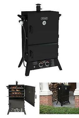 Propane Gas Smoker Vertical Wide Body Dual Cast Burner Heavy