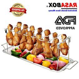 RASABOX - Chicken Wing & Leg Rack for Grill <font><b>Smoker<