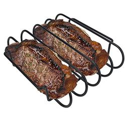 KALREDE Rib Rack BBQ - Non-Stick Rib Holder for Grilling 4 H