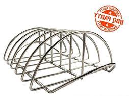 Dracarys Rib Rack,BBQ Rib Rack for Smoker Stainless Steel Ri