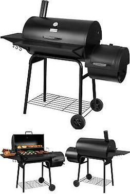 Rol Gourmet Bbq Charcoal Grill And Offset Smoker, 30'' L, 80
