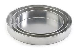 """14"""" x 2"""" Round Aluminum Cake Pan / Deep Dish Pizza Pan, New,"""