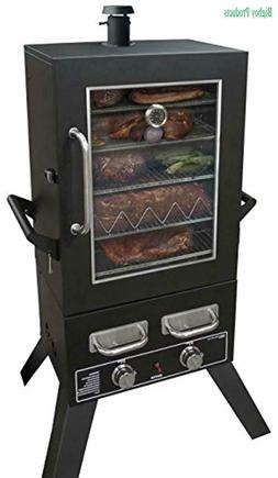 "Smoke Hollow PS4415 Propane Smoker, 33"" x 24.5"" x 60"", Black"