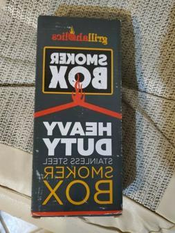 smoker box heavy duty stainless steel wood