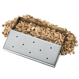 Smoker Gas Grill Box Wood Chip BBQ Smoker Accessories Stainl