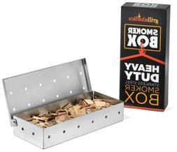 Grillaholics Smoker Box - Heavy Duty Stainless Steel Wood Ch