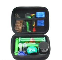Smoker's Smoking Travel Kit w/ Pipe, Grinder, Travel KIt P