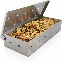 Stainless Steel BBQ Grilling Meat Smokers Box for Wood Chips