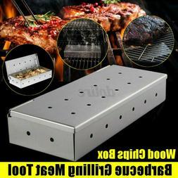 Stainless Steel Cold Smoke Generator BBQ Burn Smoker Box Gri