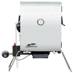 stainless steel patio outdoor portable propane smoker