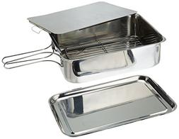 "ExcelSteel Stainless Steel Stovetop Smoker, 14 1/2"" X 10 1/2"