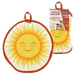 """Tortilla Warmer 10""""- Insulated, Microwaveable Fabric Pouch b"""