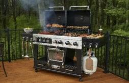 Ultimate Combination 4-in-1 LP Gas, Charcoal, Smoker Portabl