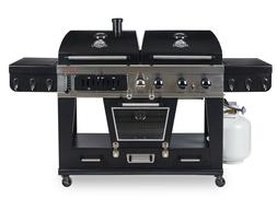 Ultimate Combination 4-in-1 LP Gas Charcoal Smoker Portable