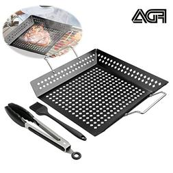 LIANGSM Vegetable Grill Basket BBQ Accessories for Grilling