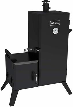 Vertical Charcoal Smoker Adjustable Wood Chips BBQ 4 Grates