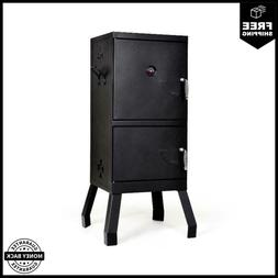 Costway Vertical Charcoal Smoker BBQ Barbecue Grill w/ Tempe