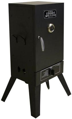 vertical propane gas smoker outdoor cooking tailgating