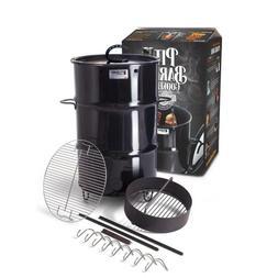 Vertical Smoker Steel Drum Pit Barrel Charcoal Basket Meat H