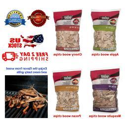 Wood Chips Smoker Apple Cherry Mesquite Pecan Smoking Meat B