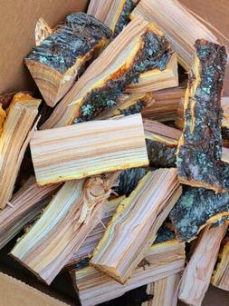 Peach Wood Chunks Smoking Meat Smoker Grilling BBQ Indiana W