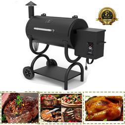 Wood Pellet BBQ Grill and Smoker BBQ w/Digital Controls Outd
