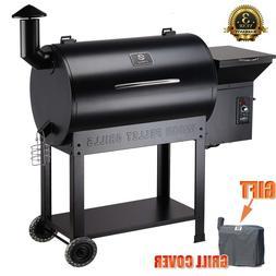Z Grills ZPG-7002B Wood Pellet BBQ Grill Smoker with Digital