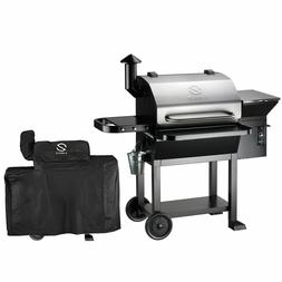 Wood Pellet Grill Smoker with Patio Cover,700 Cooking Area 6