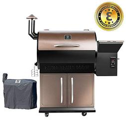 Z GRILLS Wood Pellet Grill Smoker Patio Cover 700 Cooking Ar
