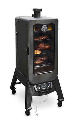 Wood Pellet Vertical Smoker Digital Controller Portable Cast