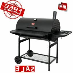 XL Charcoal Grill W/ Adjustable Charcoal Grate+2-Large Metal